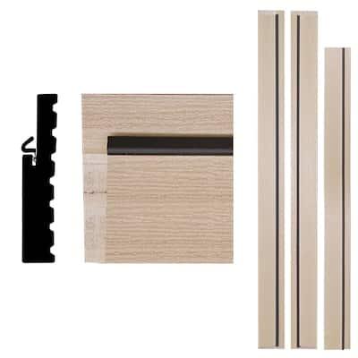 1-1/4 in. x 6-9/16 in. x 83 in. Primed Woodgrain Composite Patio Door Frame Kit