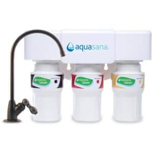 3-Stage Under Counter Water Filtration System with Faucet in Oil Rubbed Bronze