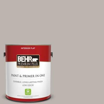 1 gal. #PPU18-12 Graceful Gray Flat Low Odor Interior Paint and Primer in One