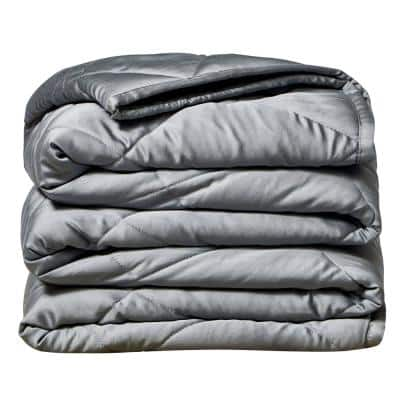 Grey Bamboo 48 in. x 72 in. x 15 lbs. Weighted Throw Blanket