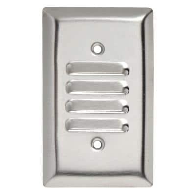 Pass & Seymour 302/304 S/S 1 Gang Vertical Louvered Wall Plate, Stainless Steel (1-Pack)