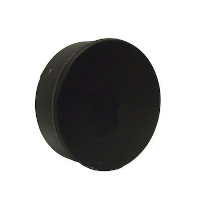 6 in. x 6 in. Black Stove Pipe Duct Cap