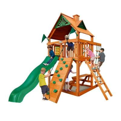 Chateau Tower Playset with Picnic Table and Slide