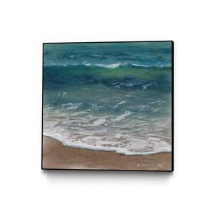 30 in. x 30 in. ''Shoreline Study 07915'' by Carole Malcolm Framed Wall Art