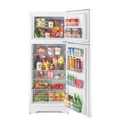 14 cu. ft. Classic Retro Propane Top Freezer Refrigerator in Marshmallow White