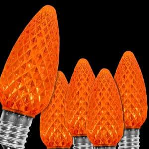 OptiCore C9 LED Orange Faceted Replacement Bulbs (25-Pack)