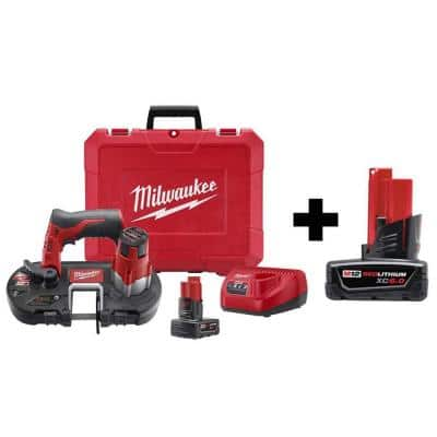 M12 12-Volt Lithium-Ion Cordless Sub-Compact Band Saw XC Kit W/ 6.0Ah Battery