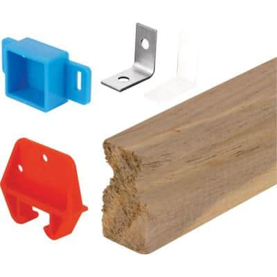 24 in. Wood Drawer Track Repair Kit