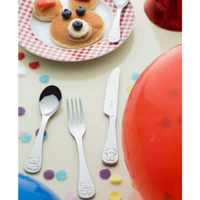 Bertie 4-Piece Stainless Steel Kids Cutlery Set with Gift Box (Service for 1)