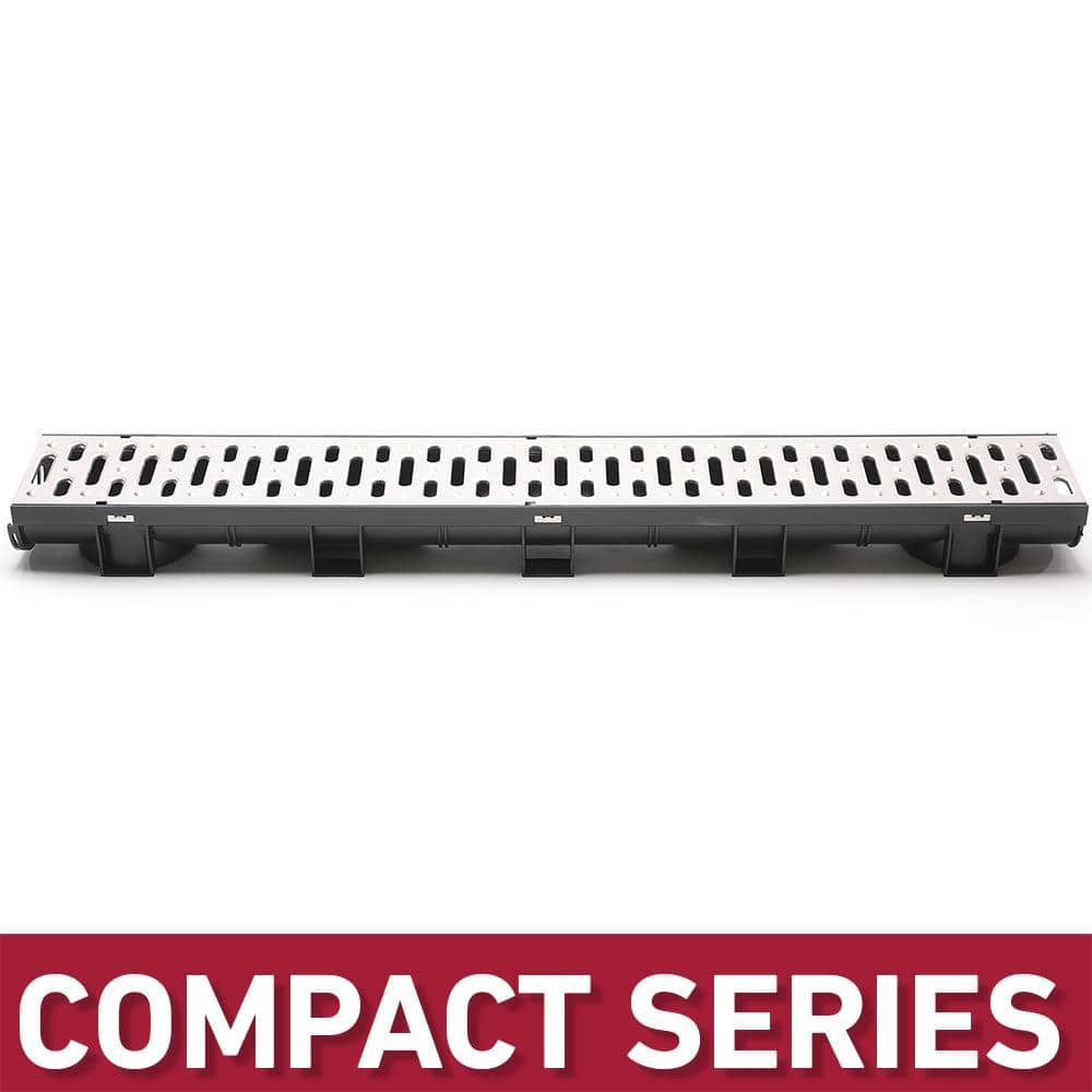 Accessories 2,3,4,5,6,7,8,9,10m Drainage Channel Set Bar Stainless Steel Zinc Plated Incl
