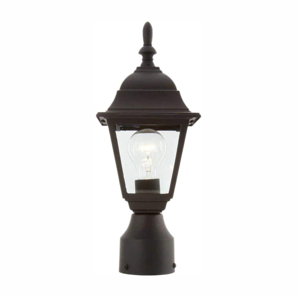 Hampton Bay 1-Light Black Outdoor Lamp