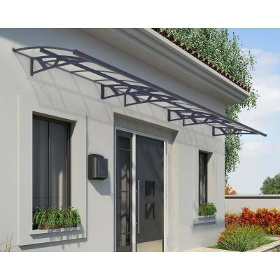 Amsterdam 6690 22 ft. Gray/Clear Door Canopy Awning