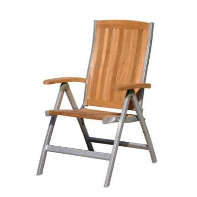 Burma Collection Teak and Aluminum Outdoor Lounge Chair