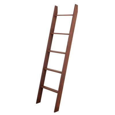 72 in. x 20 in. Lucus Dark Brown Decorative Blanket Ladder
