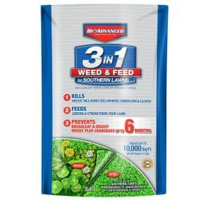 25 lbs. 3-in-1 Weed and Feed for Southern Lawns