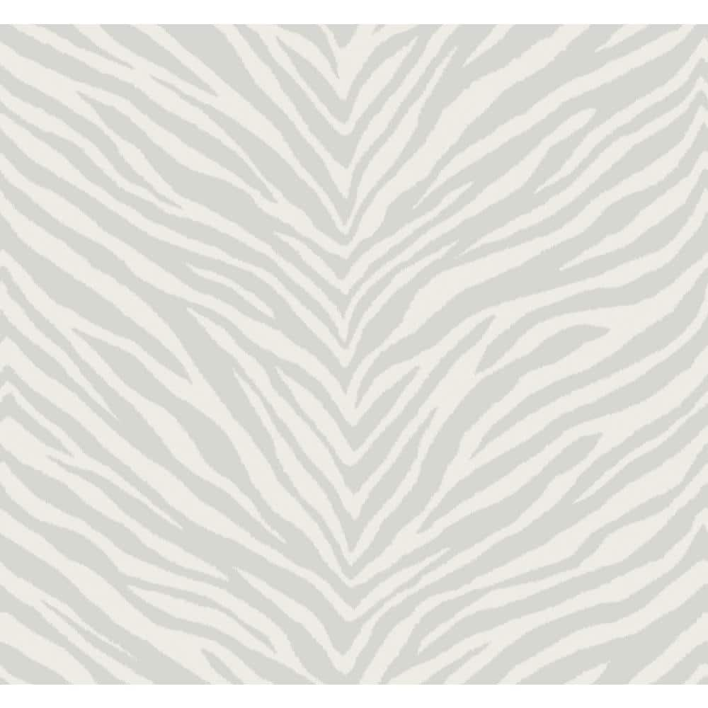 Seabrook Designs Zebra Chevron Gray And Off White Paper Strippable Roll Covers 60 75 Sq Ft Ec51211 The Home Depot