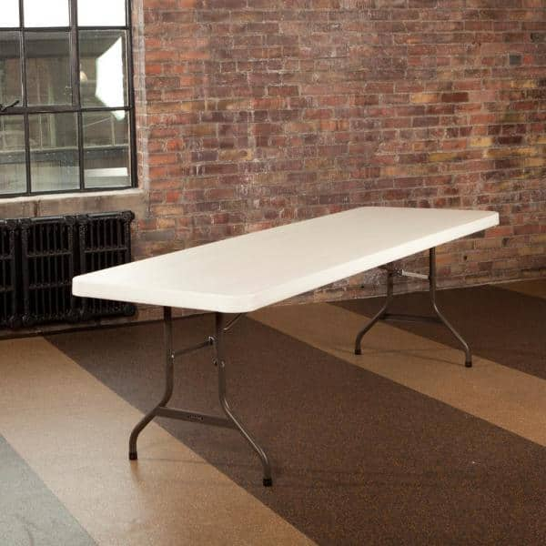 Lifetime 8 Ft Commercial Folding Table Almond 80457 The Home Depot