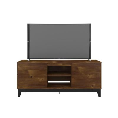 Rhapsody 63 in. Black and Truffle Wood TV Stand Fits TV's up to 70 in. with 2-Doors
