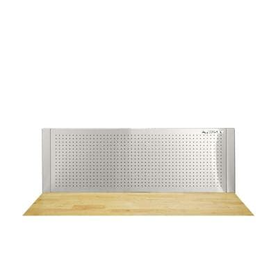 52 in. W to 72 in. W Adjustable Pegboard, Stainless Steel