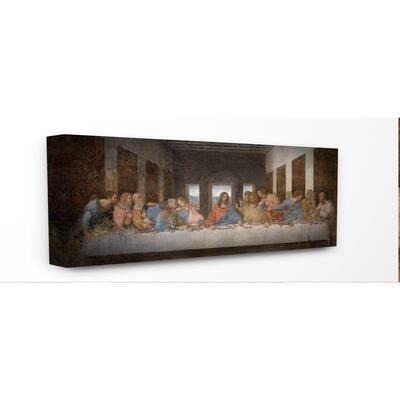 """10 in. x 24 in. """"Da Vinci The Last Supper Religious Classical Painting"""" by Leonardo Da Vinci Canvas Wall Art"""