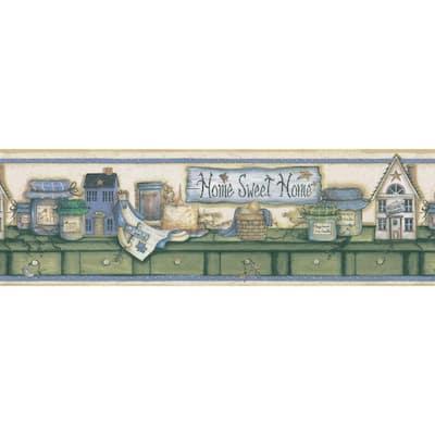 Country Shelf Cream Wallpaper Border Sample