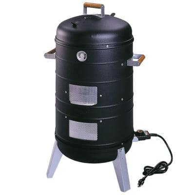 2-in-1 Electric Water Smoker Grill