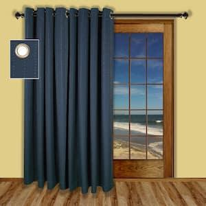 Deep Blue Grommet Blackout Curtain - 110 in. W x 84 in. L