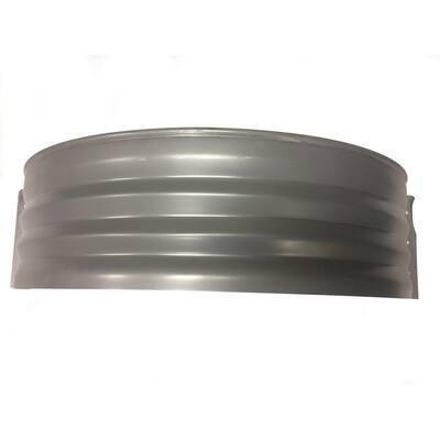 Vestal 37 in. x 24 in. Galvanized Metal Round Window Well