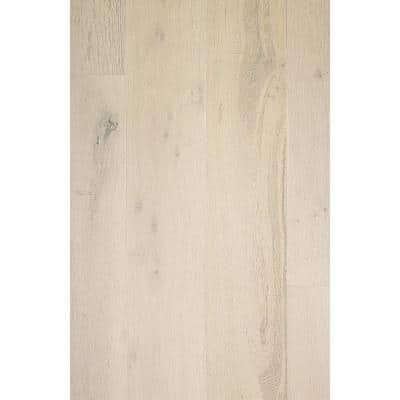 Take Home Sample - European White Oak Ire Mist Wirebrushed Engineered Hardwood Flooring - 5 in. x 7 in.