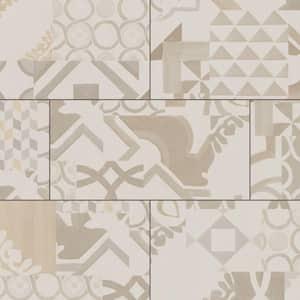 Atascosa Neutral Geo Tile 12 in. W x 23.82 in. L Luxury Vinyl Plank Flooring (23.82 sq. ft.)