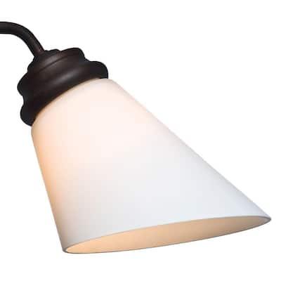 2-1/4 in. Cased White Slant Shape Glass Ceiling Fan Light (4-Set)