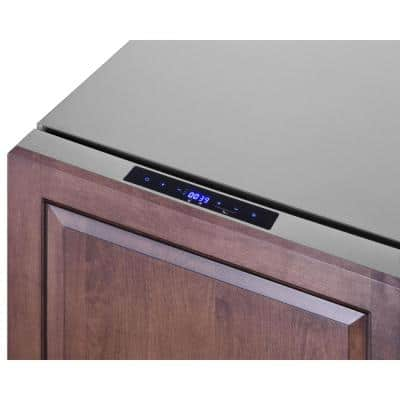 3.9 cu. ft. Drawer Refrigerator with Freezer in Stainless Steel