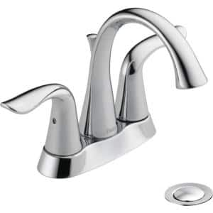 Delta Dryden 4 In Centerset 2 Handle Bathroom Faucet With Metal Drain Assembly In Chrome 2551 Mpu Dst The Home Depot