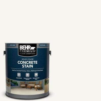 1 Gal. White Solid Color Flat Interior/Exterior Concrete Stain