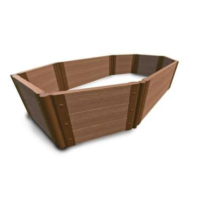 Roman Bathtub 4 ft. x 7 ft. x 16.5 in. Classic Sienna Composite Octagon Tool-Free Raised Garden Bed - 2 in. Profile