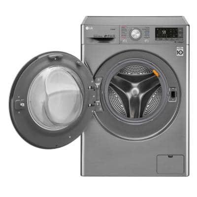 2.3 cu. ft. Graphite Steel Compact Smart All-in-One Front Load Washer & Electric Ventless Dryer Combo with Steam