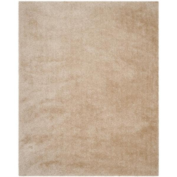 Safavieh Venice Shag Champagne 8 Ft X 10 Ft Area Rug Sg256c 810 The Home Depot
