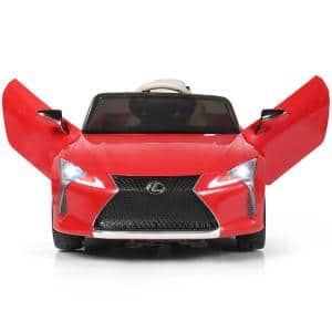 12-Volt Kids Ride on Car Lexus LC500 Licensed Remote Control Electric Vehicle Red