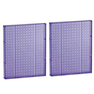 20.25 in H x 16 in W Pegboard Purple Styrene One Sided Panel (2-Pieces per Box)