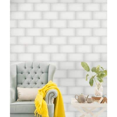 Ombre White 5.98 in. x 12.01 in. Glossy Subway Ceramic Wall Tile (8.0 sq. ft./Case)