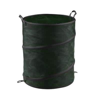 33 gal. Green Collapsible Utility Bin Trash Can with Lid