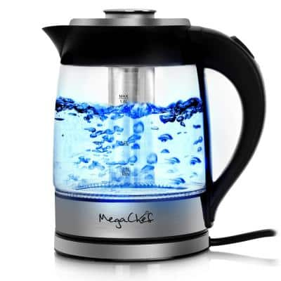 7.6 Cup Stainless Steel Cordless Electric Kettle with LED Base
