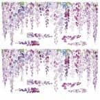 Purple Watercolor Wisteria Peel and Stick Giant Wall Decals
