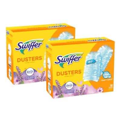 180 Multi-Surface with Febreze Lavender Vanilla and Comfort Scent Microfiber Duster Refills (18-Count, 2-Pack)