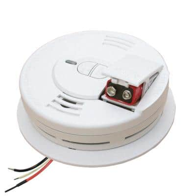 Firex Hardwired Smoke Detector with Ionization Sensor, Battery Backup, and 2-Button Test/Hush