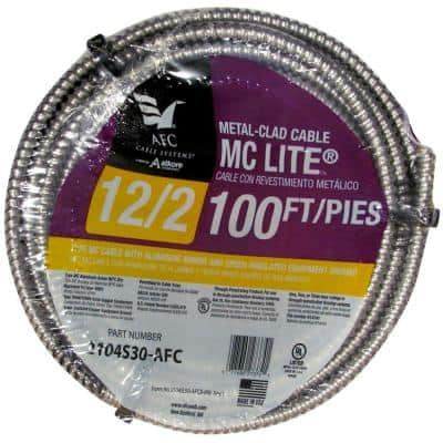 12/2 x 100 ft. Solid MC Lite Cable