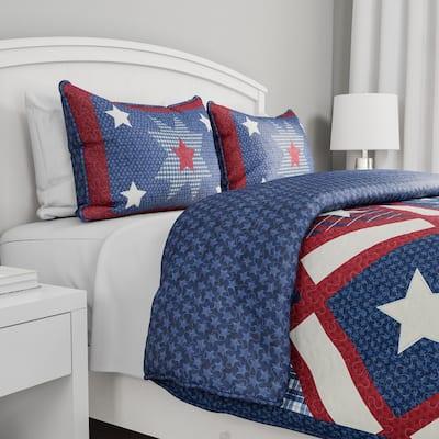 Homestead Americana Hypoallergenic Down Alternative Quilt Bedspread Set
