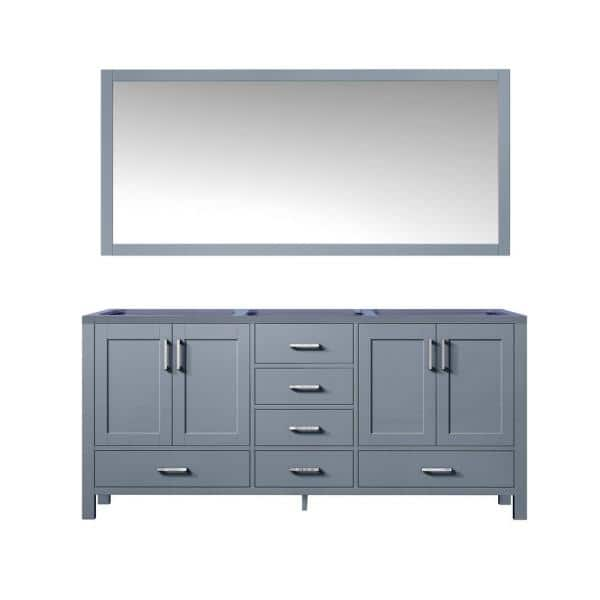 Lexora Jacques 60 Inch Double Bathroom Vanity Cabinet In Dark Grey With Mirror Lj342260db00m58 The Home Depot
