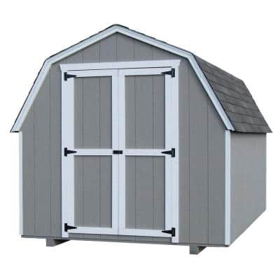 Value Gambrel 10 ft. x 10 ft. Wood Storage Building Precut Kit with 4 ft. Sidewalls with Floor