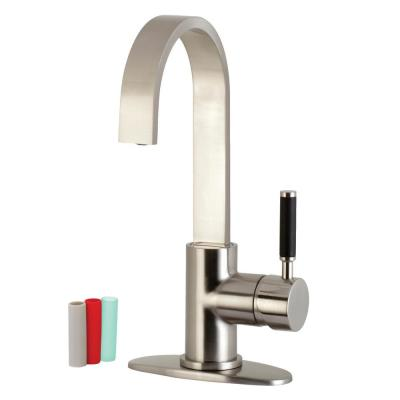 Kaiser Single-Handle Bar Faucet in Brushed Nickel